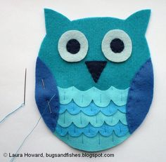 How to make a felt owl....I'm going to maybe try to make a few of these for a baby mobile.