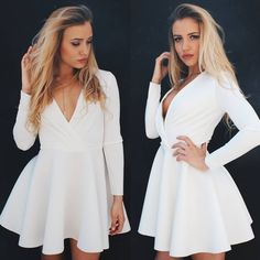 Long sleeve fit and flare dress #nunugirl