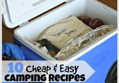 From Breakfast to Dinner, and even Dessert! 10 Make ahead meals that will make campout cooking a cinch! http://happymoneysaver.com/10-easy-and-cheap-camping-meals/?utm_campaign=coschedule&utm_source=pinterest&utm_medium=Karrie%20%7C%20HappyMoneySaver&utm_content=10%20Easy%20and%20Cheap%20Camping%20Meals