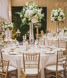 36 white wedding decoration ideas wedding decorations wedding white gold and green wedding centerpieces junglespirit Image collections