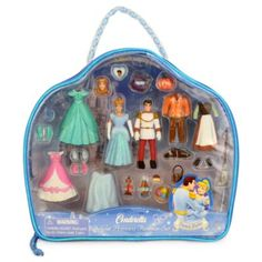 (Disney) Disney US official merchandise Cinderella Princess toys toys toys [parallel import goods] Cinderella Figurine Deluxe Fashion Play Set toy store presents gifts birthday popular kids children adult boys toy Christmas baby girl