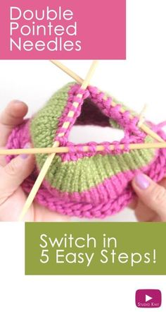 How to Knit on DPNs: Switch to Double Pointed Knitting Needles with Studio Knit - Watch Free Knitting Video Tutorial knitting stitches, knitting tutorial, knitting shawl Knitting Help, Knitting Videos, Easy Knitting, Loom Knitting, Knitting Stitches, Knitting Socks, Knitting Patterns, Knit Socks, Double Pointed Knitting Needles