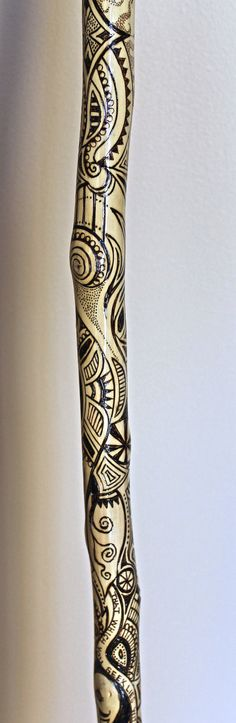 Unique handmade walking cane with one of a by AtkinsGlassandCanes