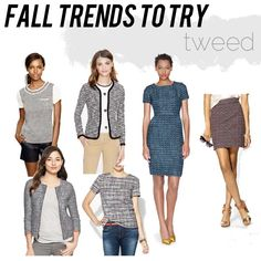 jillgg's good life (for less) | a style blog: fall trends to try: tweed!