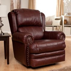 Have to have it. Catnapper Deluxe Buckingham Leather Rocker Recliner - $919 @hayneedle