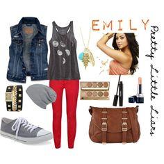 """Pretty Little Liars Fashion: Emily Fields"" by yanyaniel on Polyvore"