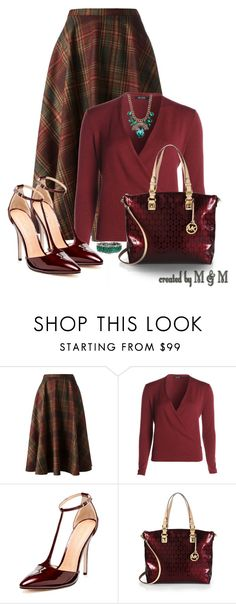 """~PLAID SKIRT FOR FALL WORK WEAR~"" by marion-fashionista-diva-miller ❤ liked on Polyvore featuring Société Anonyme, NIC+ZOE, Maiden Lane, MICHAEL Michael Kors, WorkWear and fall2014"