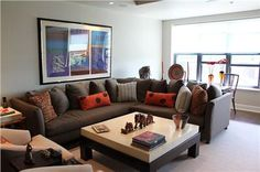 Casual Contemporary Living Room by Susan Orpin
