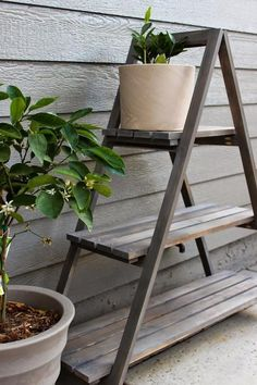10 DIY Plant Stand Ideas for an Outdoor and Indoor Decoration #DIY #DIYPlantStandIdeas #PlantStand #StandIdeas #Indoor #Outdoor #Decoration Diy Planters Outdoor, Outdoor Shelves, Outdoor Garden Bench, Outdoor Chairs, Planter Ideas, Indoor Outdoor, Outdoor Balcony, Balcony Ideas, Outdoor Furniture
