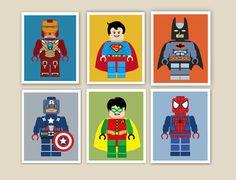 Superhero Decor Super Kids Boyu0027s Room Decor By ArtPompadoo