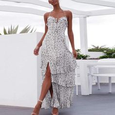 Fashion sexy halter sling beach dress SKU Material Polyester Occasion Date/Vacation/Daily Life Style Casual Gender Women Product no. Casual Summer Dresses, Stylish Dresses, Stitching Dresses, Vacation Dresses, Types Of Fashion Styles, Dress Brands, Boho Dress, Evening Dresses, Maxi Dresses