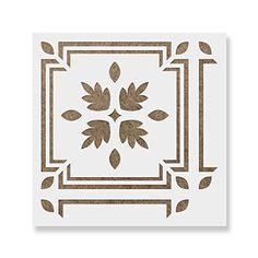 (30cm x 30cm) - Lars Tile Stencil - Reusable Floor & Backsplash Scandinavian Tile Stencils for Home Decor, Furniture, and Walls 30cm x 30cm