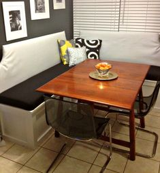 How To: Custom Kitchen Seating – Pinterior Designer Kitchen Banquette, Kitchen Seating, Kitchen Benches, Kitchen Nook, Corner Banquette, Kitchen Tables, Diy Kitchen, Kitchen Ideas, Kitchen Cabinets