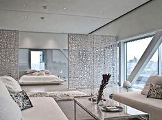 In this love with this chic white simple room thats all about these dividers