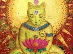 Para o budismo, os gatos representam a espiritualidade. São seres iluminados e elevados, que transmitem calma e harmonia.