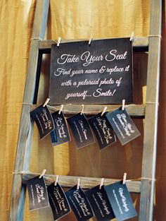 seating chart that doubles as a guest book, photo by Lavender & Twine http://ruffledblog.com/santa-barbara-courthouse-wedding #seatingchart #escortcards #guestbook