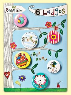 Tree Branches Button Badge Set