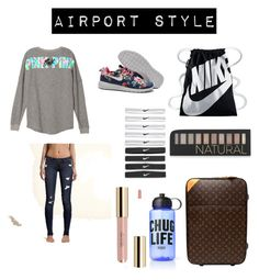 airport by saraiwilliams-sock on Polyvore featuring polyvore fashion style Louis Vuitton NIKE Forever 21 Hollister Co. Victoria's Secret clothing