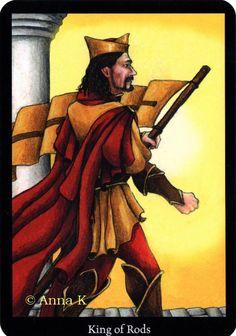 King of Wands - Anna K. Tarot by Anna Klaffinger