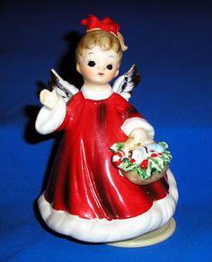 Josef Original Christmas Angel Musical Figurine....vintage