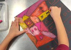 Paul Klee El Jardin de Rosas - Kids Art Classes, Camps, Parties and Events - Small Hands Big Art Easy Art Projects, Drawing Projects, Projects For Kids, Crafts For Kids, Paul Klee, Pastel Designs, 2nd Grade Art, Board For Kids, Kids Art Class