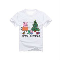 Peppa Pig  Merry Christmas T-Shirt for children  by SoorDesign