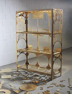 brass shelf by Samuel Treindl