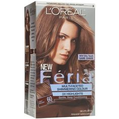 L'Oreal Paris Feria Multi-Faceted Shimmering Colour 3X Highlights, Level 3 Permanent, Light Brown/Natural 60 (Pack of 3) * You can get more details by clicking on the image. (This is an affiliate link and I receive a commission for the sales) #HairColoringProducts