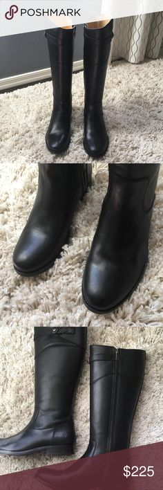 Frye Black Leather Molly Button Tall Riding Boots Never worn and was used as display only.. Leather may have scuffs and smudge from being try-on and toss around.. I took the pictures under natural light so you can flaws and imperfection.. please see all pictures before purchase Please share my listing guys Thanks 😘 Frye Shoes Heeled Boots