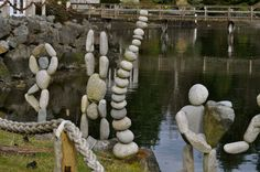 Image detail for -Beautiful Pebble/Stone Art at Winslow Wharf Marina… Pebble Stone, Pebble Art, Stone Art, Stone Crafts, Rock Crafts, Rock Sculpture, Garden Sculpture, Rock And Pebbles, Deco Floral