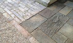motorcourt detail Bucks County sandstone apron