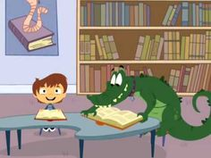 Teach my Alligator Library manners - using inside voices and proper book care. Good for need red/green signs. School Library Lessons, Kindergarten Library, Library Lesson Plans, Elementary School Library, Library Skills, Library Books, Kindergarten Orientation, Library Ideas, Library Orientation
