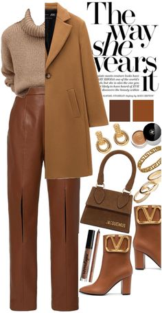 Suit Fashion, Teen Fashion Outfits, Classy Outfits, Stylish Outfits, Winter Outfits, Mode Shoes, Monochrome Outfit, Relaxed Outfit, Mode Chic