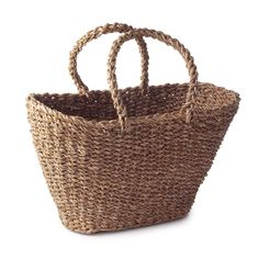 $30 HOLGA LEAF BASKET TOTE   Woven Tote, Fair Trade, Environmentally Sustainable, Basket, Grocery Bag   UncommonGoods