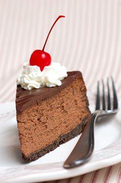 Incredible triple chocolate cheesecake