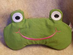 Embroidered Eye Mask, Sleeping, Cute Sleep Mask for Kids or Adults, Sleep Blindfold, Eye Shade, Travel, Slumber Mask, Frog Design, Handmade by MadeByMeEmbroidery on Etsy https://www.etsy.com/listing/112024199/embroidered-eye-mask-sleeping-cute-sleep