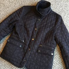 Chocolate Brown Quilted Jacket Kenneth Cole Reaction faux fur lined quilted jacket with leather trim. Inside seam of right sleeve liner has come undone, would be a very easy repair, it's not ripped just no longer sown, see 4th picture. Other than that this is in great condition. make an offer✅bundle with one other item and save 15%✅ Kenneth Cole Reaction Jackets & Coats