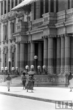Guatemala de Antaño 1958. Palacio Nacional.