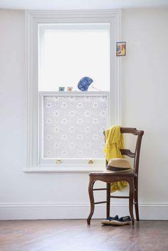"Modern Window Film by Emma Jeffs - ""Otto"" Moroccan Tile - Pure Modern Design Lifestyle Objects"
