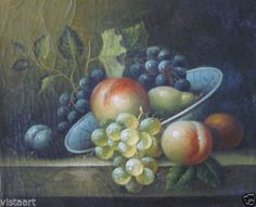 """Oil Painting On Stretched Canvas 8""""x 10"""" ~Bowl of Fruit~"""