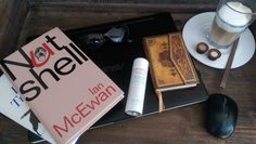 "Monday again! Start with Avéne Eau Thermale, Ian McEwan ""Nutshell"" and with a great Latte Macchiato"