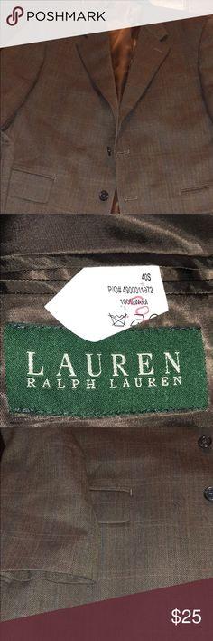 Lauren Ralph Lauren wool blazer Lauren Ralph Lauren wool blazer....Size 40s or 40 short.....Brown in color....Great condition...Bin18 Lauren Ralph Lauren Suits & Blazers Sport Coats & Blazers