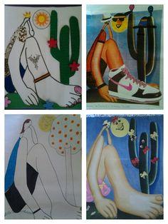 Blog de ellenpeliciari :' Arte e Talento ', RELEITURAS DA OBRA ABAPORU DE TARSILA DO AMARAL FEITOS PELOS ALUNOS DA 8ª SÉRIE DO CSSG-CUIABÁ/MT