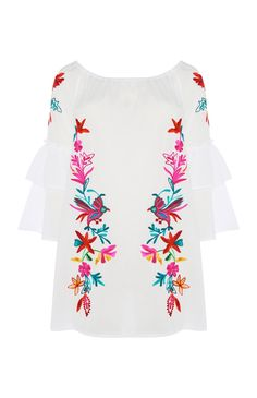 Embroidery Bardot Cover Up