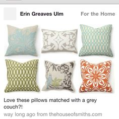 Accent pillows for my new couch!