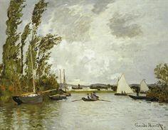Le Petit bras de la Seine à Argenteuil (C Monet - W 232),1872.