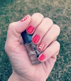 I am LOVING this Candy Apple TruShine Gel. I threw a clear Gold Chevron over 2 nails...I love that I can wear wraps over gel to give my mani some personality! #candyapplejn #goldchevronjn #jamberry #nailwraps #nailart