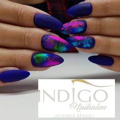 #new #newnails #newnails💅 #newnail #indigo #indigonails #indigochild #nails💅 #nails #indigonailssalon #studiourodyjoannamadej #perfect #perfectnails #paznokcie #paznokciezelowe #foliatransferowa #indigogirl #indigolovers #indigonailslab #indigonail Acrylic Tutorials, Indigo Nails, Indigo Children, Nail Patterns, Hot Nails, Gel Nail Designs, Perfect Nails, Nail Arts, Nails Inspiration
