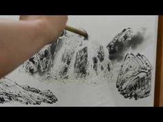 남학호 수묵산수화그리기 (1) - YouTube