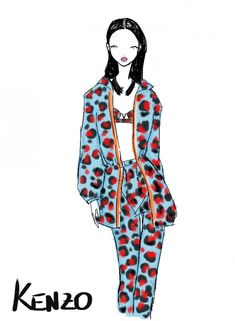 Rei Nadal draws live from the show - Kenzo @ Paris Womenswear S/S 2013 - SHOWstudio - The Home of Fashion Film